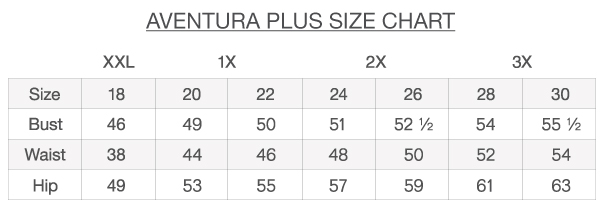 Size Charts And Fit Guide  Aventura Clothing