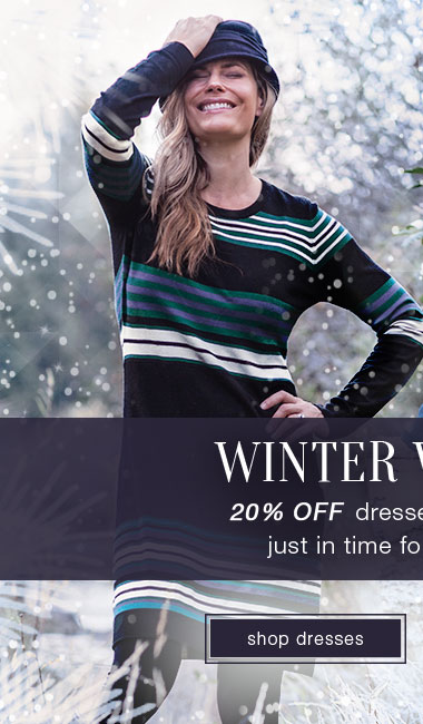 20% off winter dresses - Shop Dresses Now