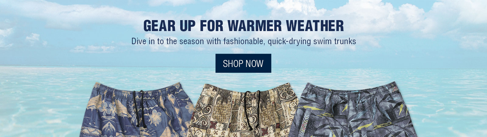 Gear up for warmer weather - Swim Shorts