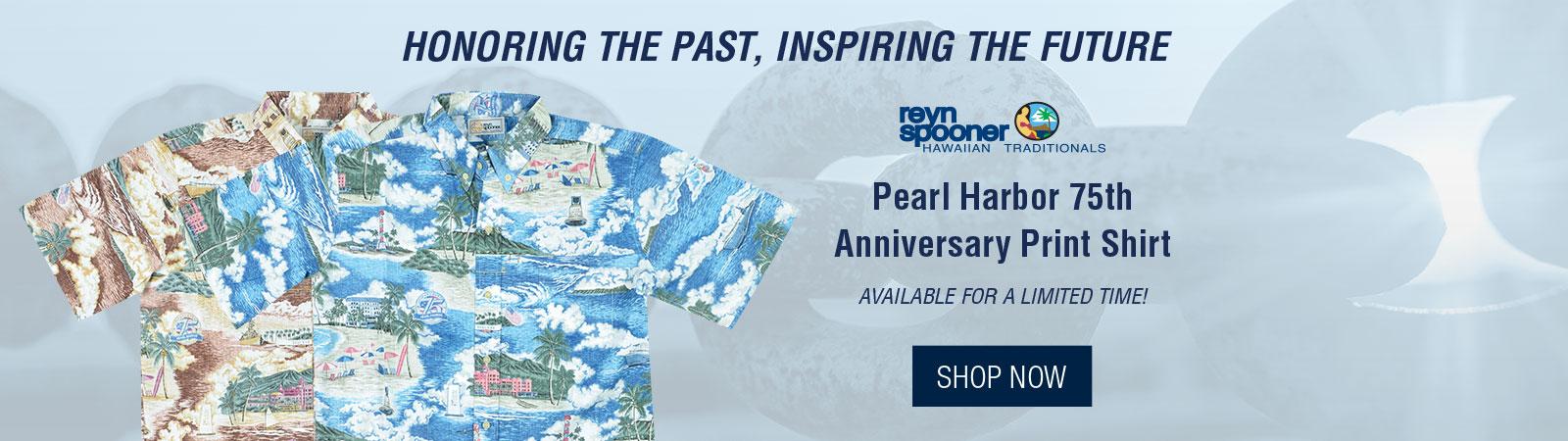 Pearl Harbor 75th Anniversary Print Shirt