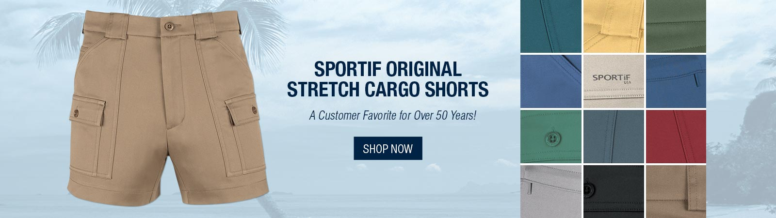 Sportif Original Stretch Cargo Shorts