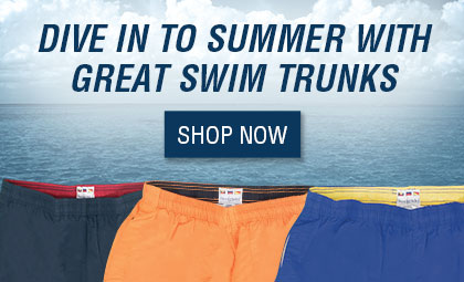 Dive in to summer with great swim trunks