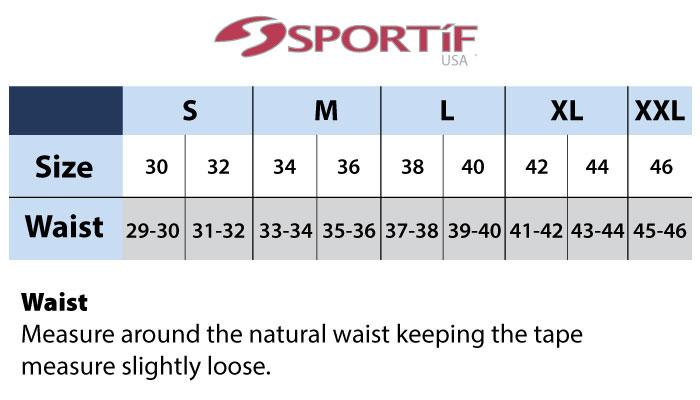 Sportif Size Chart