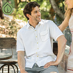 Ecoths Galen Shirt White