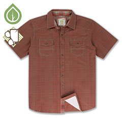 Ecoths Somersett Shirt Cranberry