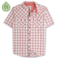 Ecoths Xavier Shirt Brick Red