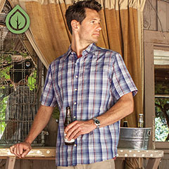 Ecoths Carrington Shirt Coastal Fjord