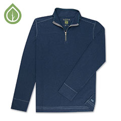 Ecoths Warner 3/4 Zip Pullover Mood Indigo