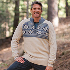 Ecoths Zane Sweater Heathered Oatmeal