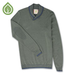 Ecoths Barrett Sweater Agave Green