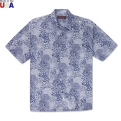 Good Reef Print Shirt Navy