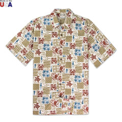 Sea Life Print Shirt Cream