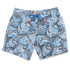 Line Scale Swim Short Black