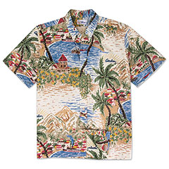 Reyn Spooner Avalon Print Shirt Natural