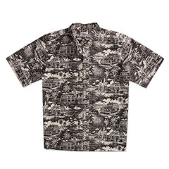 Reyn Spooner Street to Surf Print Shirt Black
