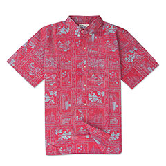 Reyn Spooner 60th Anniversary Print Shirt Red