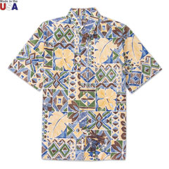 Waipio Valley Print Shirt Green