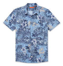 My Holiday Print Shirt Blue