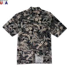 Blue Lagoon Print Shirt Black