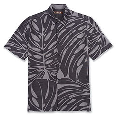 Syri's Leaf Print Shirt Black