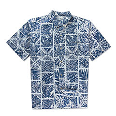 Reyn Spooner Forest Tapa Print Shirt Denim