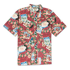 Reyn Spooner Hawaiian Christmas 2017 Print Red