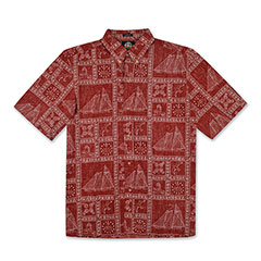 Newport Sailor Print Shirt Red