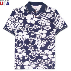 Paradise Performance Golf Polo Navy