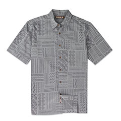 Kapa Cloth Print Shirt Grey