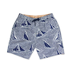 Reyn Spooner Hawaiian Sail Swim Shorts Royal