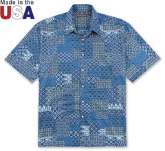 Keepsake Print Shirt Navy