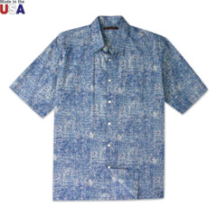 Sketch Book Print Shirt Blue