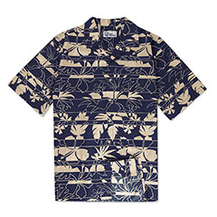 Reyn Spooner Paradise Stripes Print Shirt Royal