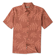 Lawai'i Jacquard Print Shirt Red Clay