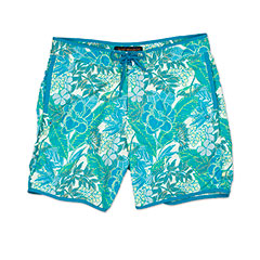 Reyn Spooner Jungle Swim Trunk Turquoise