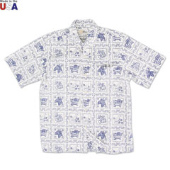 Reyn Spooner Lahaina Sailor Print Shirt Natural