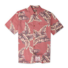 Nunui Leaf Print Shirt Red
