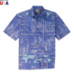 World Voyage Print Shirt Navy