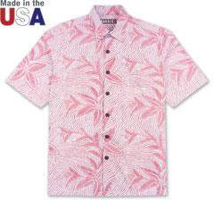Coral Star Print Shirt Red