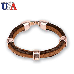 Leather Braided Bracelet Brown
