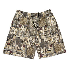 Island Life Swim Shorts Khaki Tan