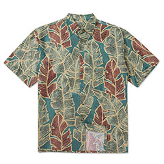 Leaf Nation Print Shirt Teal