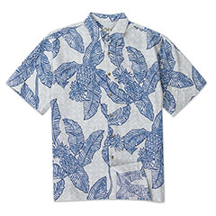 Pineapple Connection Print Shirt Blue