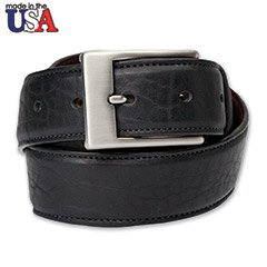 American Bison Belt Black