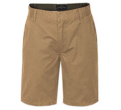 Boardwalk Cotton Twill Shorts Dark Khaki