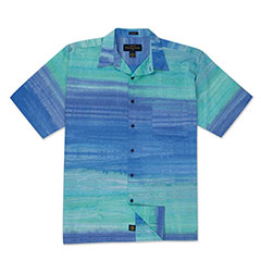 Blue Grass Batik Print Shirt Blue