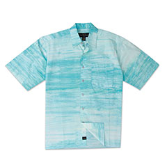 Cancun Batik Print Shirt Blue