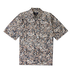Habana Batik Print Shirt Brown