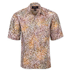 Chai Tea Batik Print Shirt Cream