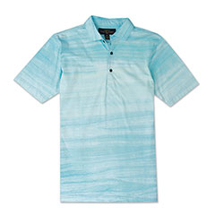 Beach Front Batik Polo Blue